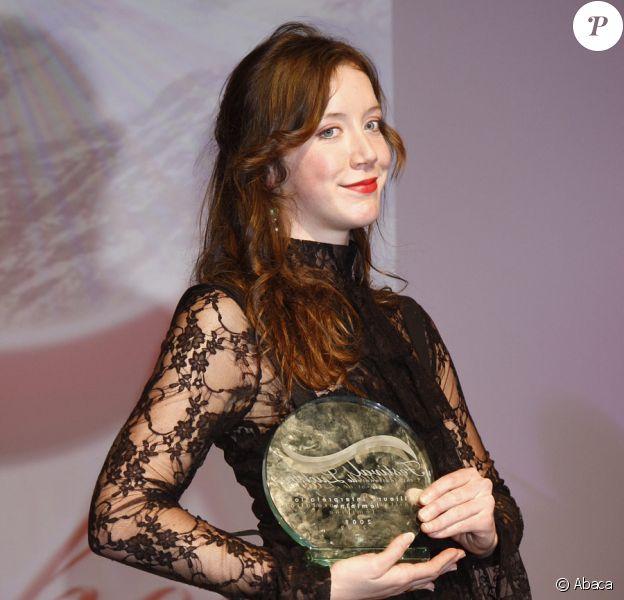 Sara Giraudeau, prix d'interprétation féminine, au Festival de Luchon, le 7/02/09