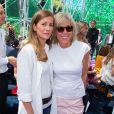 """Anne Gravoin et Brigitte Macron - Front Row au défilé de mode """"Christian Dior"""", collection Haute-Couture automne-hiver 2015/2016 au Musée Rodin à Paris, le 6 juillet 2015."""