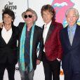 """Ronnie Wood, Keith Richards, Mick Jagger et Charlie Watts - People à la soirée """"Cuervo: The Rolling Stones Tour Pick"""" à New York. Le 15 novembre 2016"""