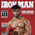 Sam Asghari en couverture du magazine Iron Man. Numéro d'avril 2017.