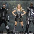 Les Black Eyed Peas en concert lors de la finale du Superbowl à Dallas le 6 février 2011.