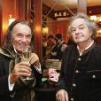 """Exclusif - Gonzague Saint Bris (à droite) à la soirée de lancement de """"BoBoules, l'autre pétanque"""" à l'Hôtel Napoléon à Paris le 7 novembre 2016 © Philippe Doignon / Bestimage"""