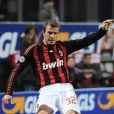 David Beckham en plein match avec le Milan AC contre Reggina