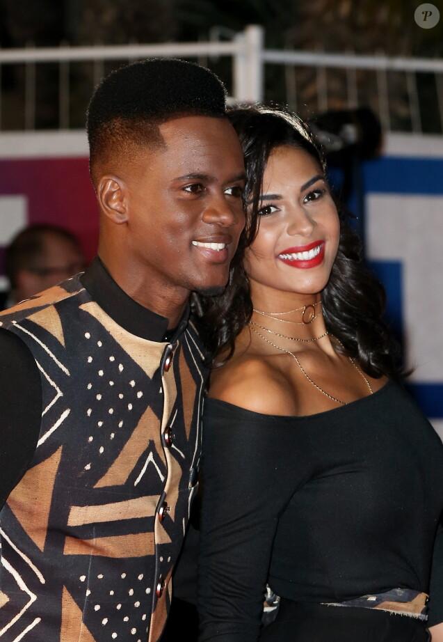 """Black M et sa femme Lia à la 18ème cérémonie des """"NRJ Music Awards"""" au Palais des Festivals à Cannes, le 12 novembre 2016. © Dominique Jacovides/Bestimage"""