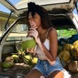Photo de Winnie Harlow en Jamaïque. Le 4 août 2017.