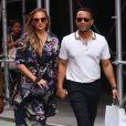 John Legend et sa femme Chrissy Teigen à New York le 29 juillet 2017.
