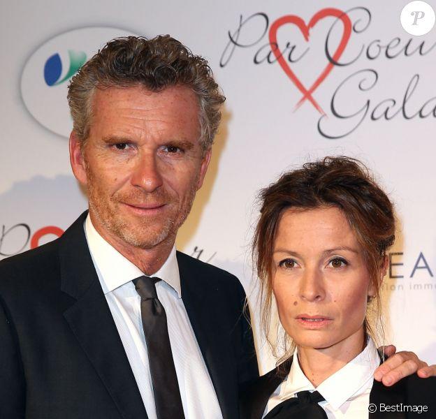 """Denis Brogniart et sa femme Hortense au gala """"Par Coeur"""" pour les 10 ans de l'association """"Cekedubonheur"""" au pavillon d'Armenonville à Paris."""