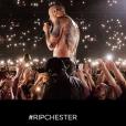 Capture d'écran de la page chester.linkinpark.org dédiée à la prévention du suicide suite à celui de Chester Bennington de Linkin Park.