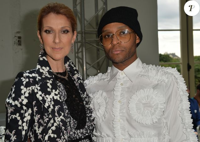 """Céline Dion et Law Roach - People Front Row du défilé de mode Haute-Couture automne-hiver 2016/2017 """"Giambattista Valli"""" à Paris le 4 juillet 2016 ."""