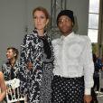 """Céline Dion et Law Roach - People Front Row du défilé de mode Haute-Couture automne-hiver 2016/2017 """"Giambattista Valli"""" à Paris le 4 juillet 2016 . CVS-Veeren / Bestimage"""