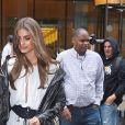 Taylor Hill se rend au QG de Victoria's Secret pour les essayages du défilé. New York, le 29 août 2017.