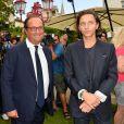François Hollande et le chanteur Raphaël (jury) - 10ème festival du Film Francophone d'Angoulême à Angoulême, France, le 22 août 2017. © Coadic Guirec/Bestimage