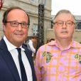 François Hollande et Dominique Besnehard - 10ème festival du Film Francophone d'Angoulême à Angoulême, France, le 22 août 2017. © Coadic Guirec/Bestimage