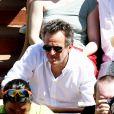 Arthur Sadoun et sa femme Anne-Sophie Lapix - Personnalités dans les tribunes lors des internationaux de France de Roland Garros à Paris. Le 10 juin 2017. © Jacovides - Moreau / Bestimage