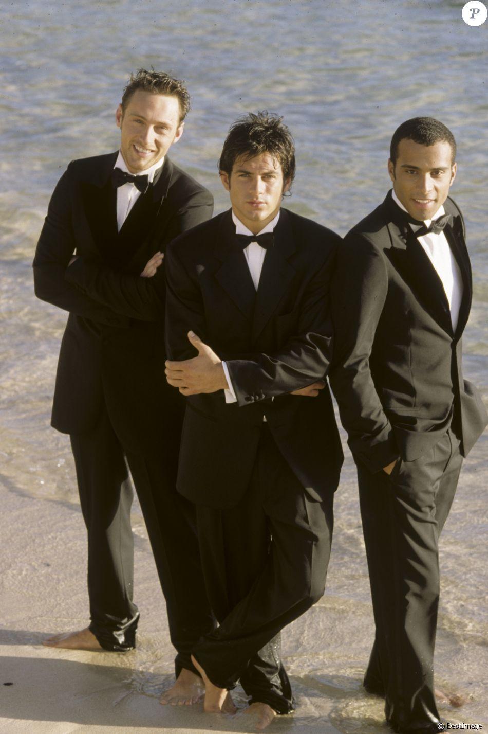 Dans les caraibes, à Saint-Barthélemy, le groupe 2BE3, Filip NIKOLIC, Adel KACHERMI et Frank DELAY le 12 mars 1998.