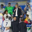 Zinédine Zidane - L'équipe du Real Madrid célèbre sa victoire en Champions League à Madrid, le 5 juin 2017.