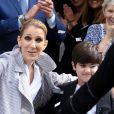 Céline Dion quitte Paris, le 10 août 2017.