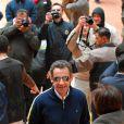 Nicolas Sarkozy est allé à la rencontre des personnes présentes sur le site