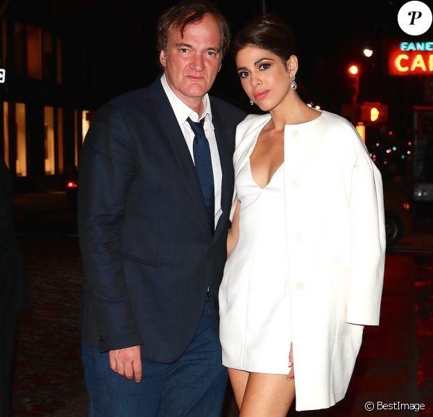 Quentin Tarantino et sa fiancée Daniella Pick ont réuni quelques amis très célèbres pour fêter leurs fiançailles au Socialista à New York, le 23 septembre 2017.