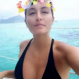 Anais Camizuli en vacances à Maurice, septembre 2017, Snapchat