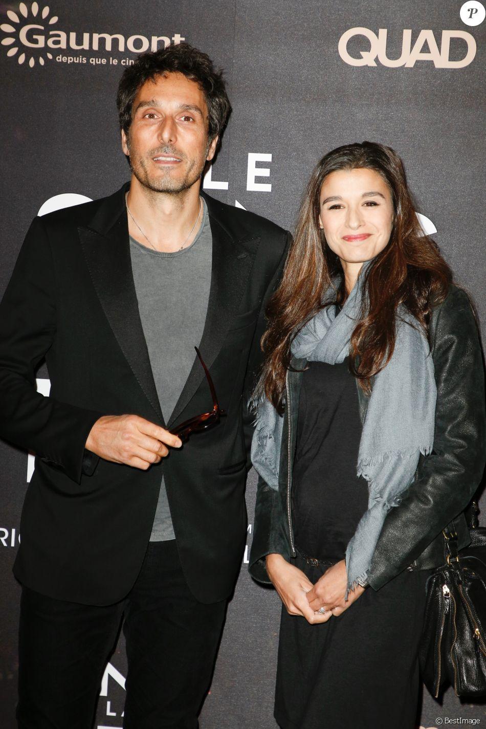 """Vincent Elbaz et sa compagne Fanny Conquy - Avant-première du film """"Le sens de la fête"""" au Grand Rex à Paris le 26 septembre 2017. © Coadic Guirec/Bestimage"""
