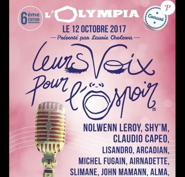 6e édition de Leurs Voix pour l'Espoir, le 12 octobre 2017
