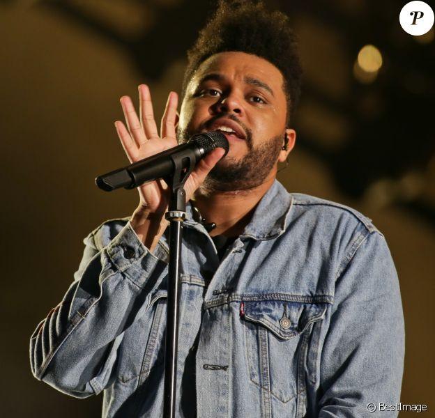 The Weeknd en concert au 1er festival Lollapalooza à l'Hippodrome de Longchamp à Paris le 21 juillet 2017 © Stéphane Vansteenkiste/Bestimage