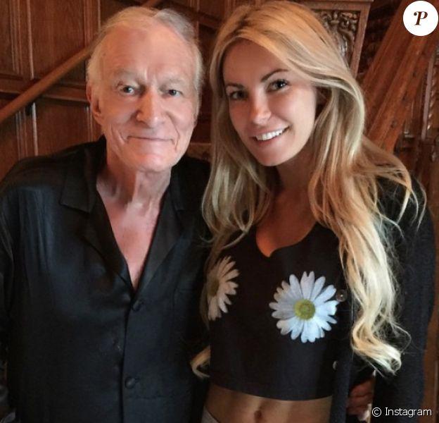 Hugh Hefner et son épouse Crystal Harris sur une photo publiée sur Instagram en avril 2015