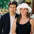 """""""Laurent Gerra et Mathilde Seigner à Roland-Garros en 1999"""""""