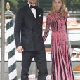"""Beatrice Borromeo et Pierre Casiraghi lors de la soirée des """"Franca Sozzani Awards"""" au 74e Festival International du Film de Venise, le 1er septembre 2017."""
