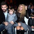 """Shakira, son compagnon Gerard Piqué et leurs fils Milan et Sasha à la 5ème édition du """"Catalan football stars"""" à Barcelone, Espagne, le 28 novembre 2016."""