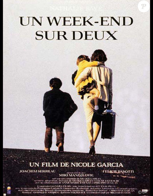 Affiche du film Un week-end sur deux de Nicole Garcia (1990) avec Nathalie Baye