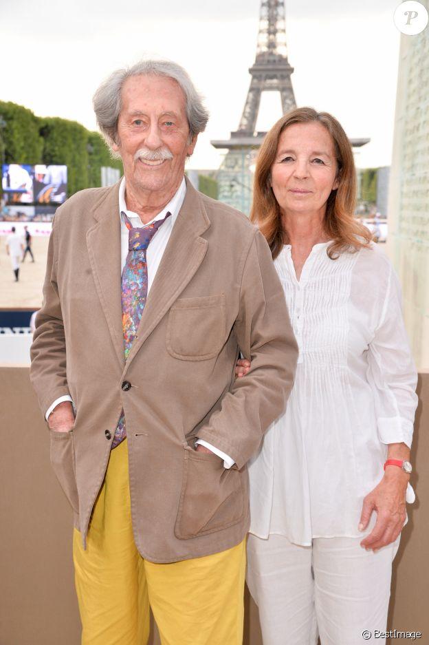 Exclusif - - Jean Rochefort et sa femme Françoise Vidal - Photocall lors de la soirée du Grand Prix Longines Global Champions Tour lors du Longines Paris Eiffel Jumping au Champ-de-Mars à Paris, le 4 juillet 2015.
