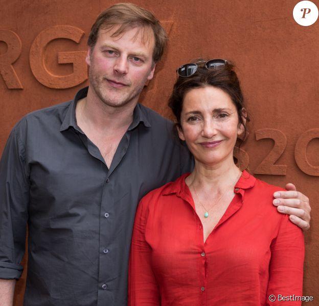 François Feroleto et sa femme Valérie Karsenti au village lors des internationaux de France de Roland Garros à Paris, le 2 juin 2017. © Dominique Jacovides - Cyril Moreau/ Bestimage