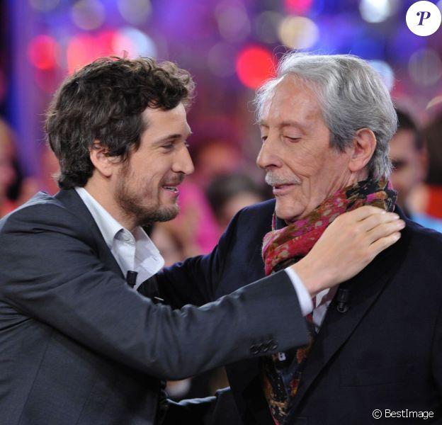 """Guillaume Canet, Jean Rochefort - Enregistrement de l'émission """"Vivement Dimanche"""" à Paris diffusée le 10 mars 2013"""