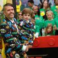 """""""Perez Hilton et son fils Mario à la première de 'The Lego Ninjago Movie' au théâtre Village à Westwood, le 16 septembre 2017 © Chris Delmas/Bestimage"""""""