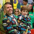 Perez Hilton et son fils Mario à la première de 'The Lego Ninjago Movie' au théâtre Village à Westwood, le 16 septembre 2017 © Chris Delmas/Bestimage