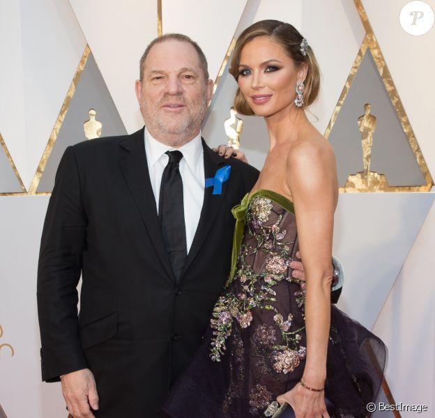 Harvey Weinstein et sa femme Georgina Chapman à la 89e cérémonie des Oscars au Hollywood & Highland Center à Hollywood, le 26 février 2017