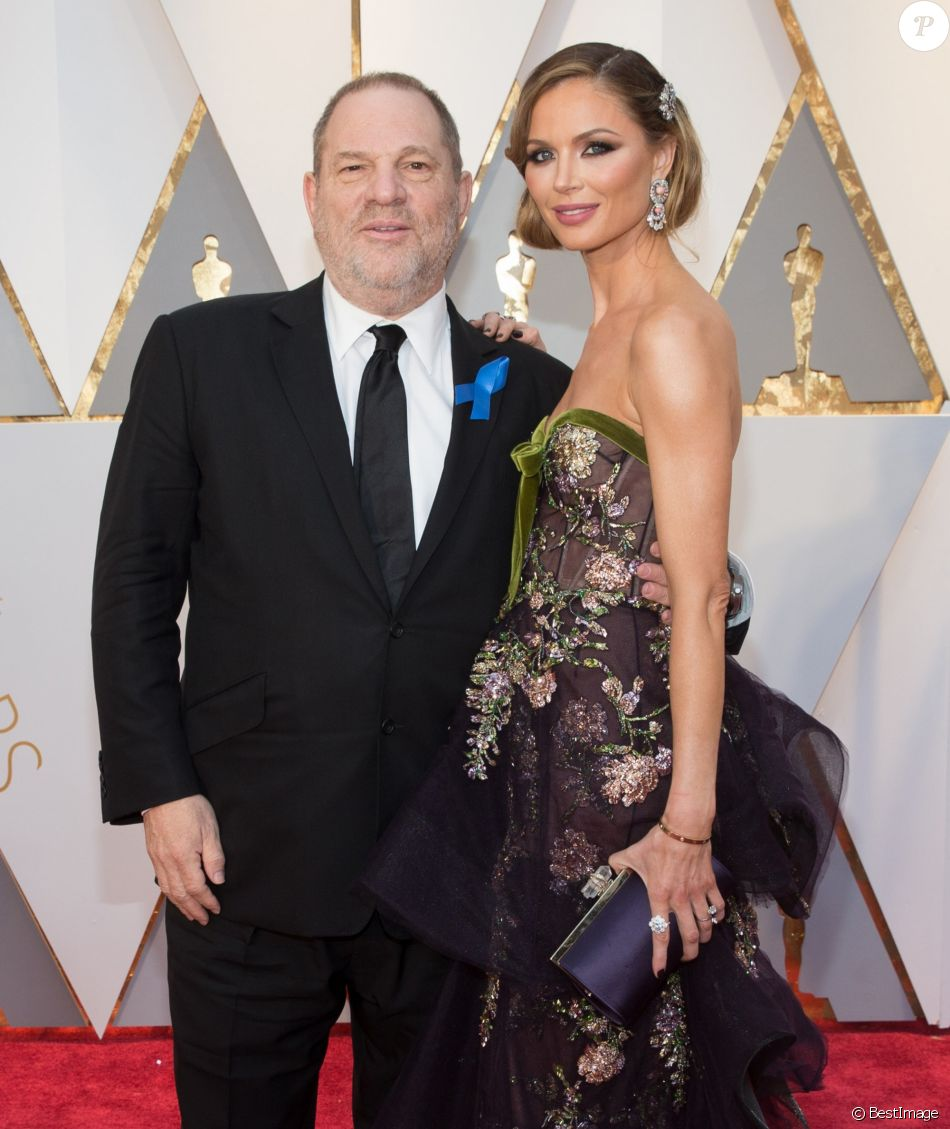 Harvey Weinstein et sa femme Georgina Chapman à la 89e cérémonie des Oscars au Hollywood & Highland Center à Hollywood, le 26 février 2017