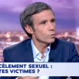 Flavie Flament réagit à l'affaire Harvey Weinstein qui secoue Hollywood dans 24h Pujadas sur LCI, le 11 octobre 2017.