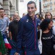 Le champion du monde du 800 m, Pierre-Ambroise Bosse, arrive Gare du Nord à Paris, le 12 août 2017.