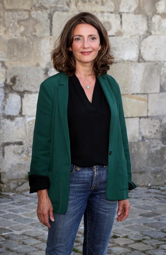 """Valérie Karsenti - Photocall du téléfilm """"Tuer un homme"""" lors du 18ème Festival de la Fiction TV de La Rochelle. Le 16 septembre 2016 © Patrick Bernard / Bestimage"""