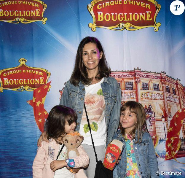 """Exclusif - Adeline Blondeau et sa fille Wilona - La première du nouveau spectacle du Cirque d'Hiver Bouglione, """"Exploit"""" à Paris , le 15 octobre 2017. © Pierre Perusseau/Bestimage"""