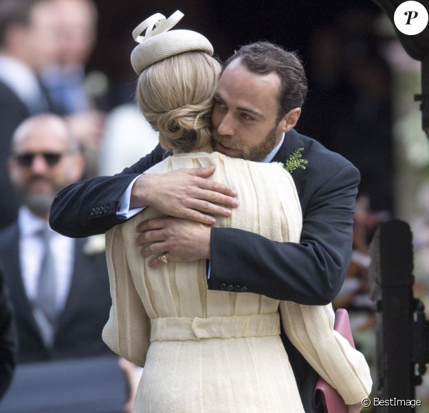 James Middleton et Donna Air au mariage de Pippa Middleton et James Matthews à Englefield dans le Berkshire le 20 mai 2017.