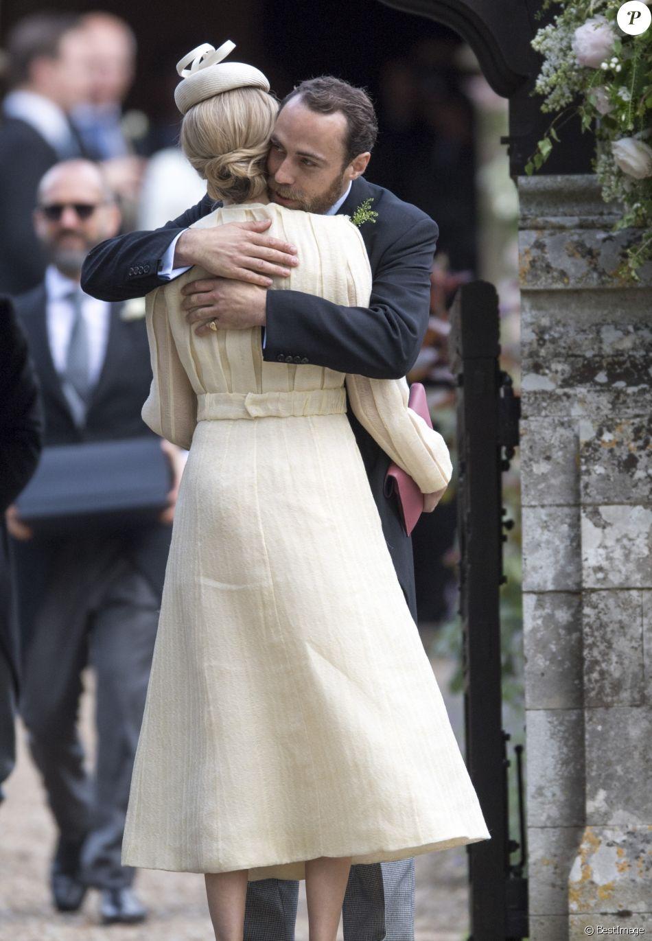 James Middleton et Donna Air au mariage de Pippa Middleton et James Matthews à Englefield dans le Berkshire le 20 mai 2017.