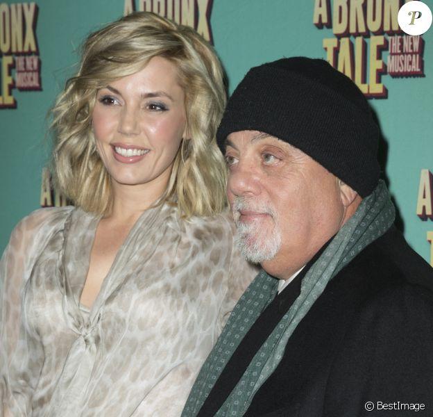 """Alexis Roderick et son mari Billy Joel à la première de la comédie musicale """"A Bronx Tale"""" au théâtre Longacre à New York, le 1er décembre 2016."""