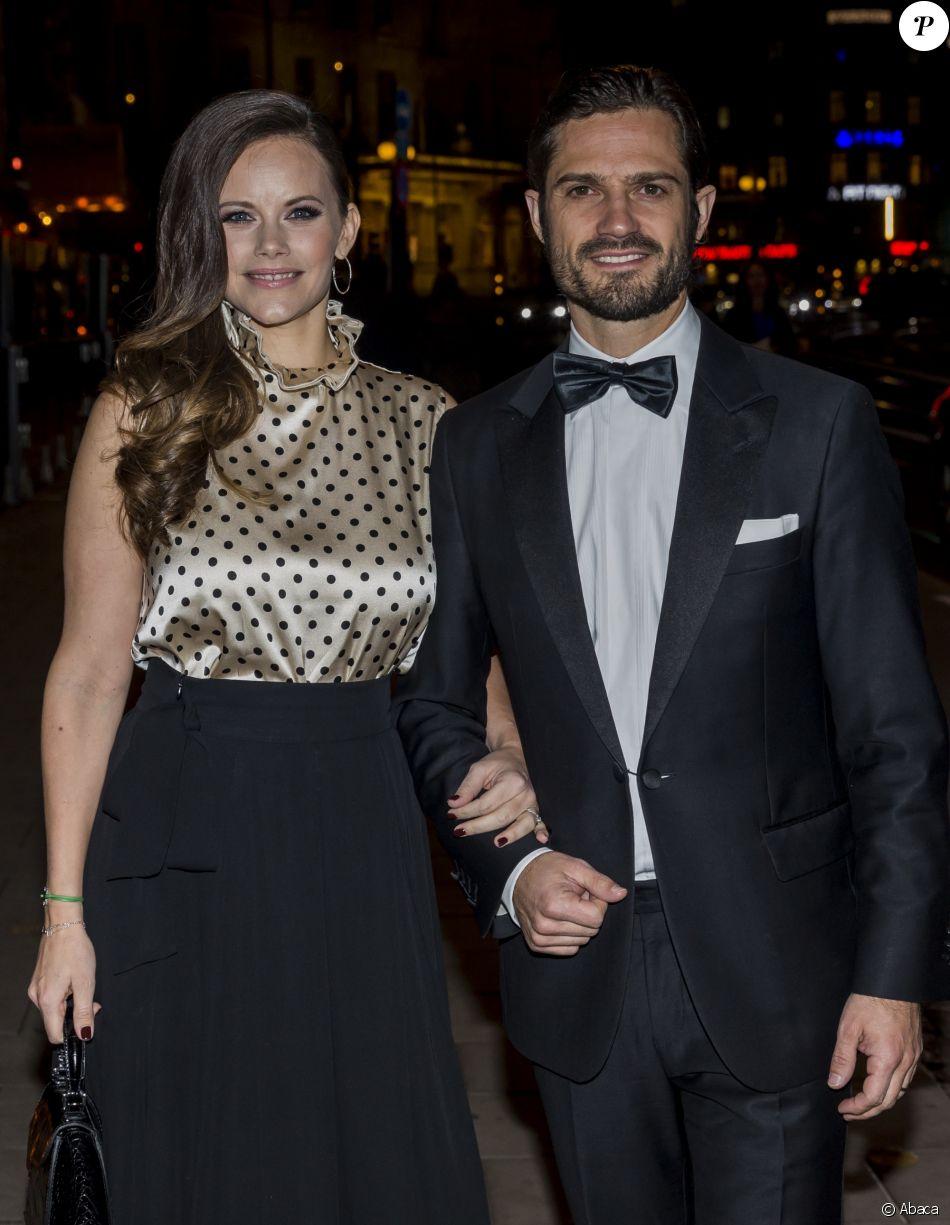 Le prince Carl Philip et la princesse Sofia de Suède au dîner annuel annuel de l'association Project Playground, à Stockholm le 20 octobre 2017