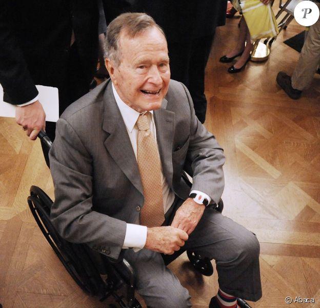 George H.W. Bush à la Maison Blanche à Washington, le 31 mai 2012.