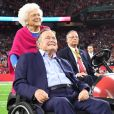 George HW Bush et Barbara Bush au Super Bowl à Houston, le 5 février 2017.