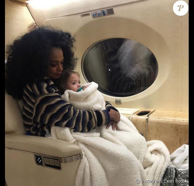 Diana Ross et sa petite-fille Jagger Snow (2 ans) sur une photo publiée sur Instagram le 23 octobre 2017